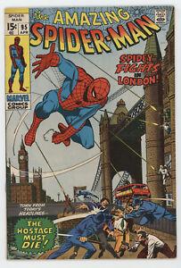 Amazing Spider-Man 95 Marvel 1971 FN Gwen Stacy London Stan Lee John Romita