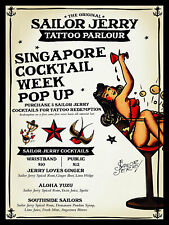 Sailor Jerry Tattoo Parlour, Retro metal Sign/Plaque, Gift, Man Cave, Bar/ Pub