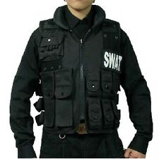 SWAT CS Airsoft Game Law Enforcement Tactical Military VEST Combat Pistol-Black