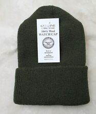 1d77c1fa0cc GENUINE US ARMY MILITARY ISSUE WATCH CAP WOOL OD GREEN - USA MADE