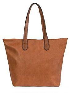Mabel Womens Lightweight Plain Handbag - Soft 100% PU Leather Tote Shoulder Bag