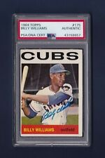 Billy Williams signed Chicago Cubs 1964 Topps baseball card Psa/Dna
