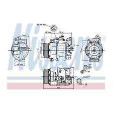 Fits Mercedes GLK-Class X204 320 CDi 4matic Genuine Nissens Air Con Compressor
