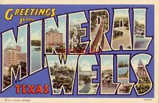Greetings From Mineral Wells, Texas 1942 Pvt William Kruse Co A Inf Camp Wolters