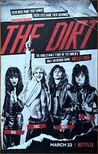 Motley Crue 'The Dirt' Netflix Film 2019 Ltd Ed Rare New Poster Display! Sixx Am