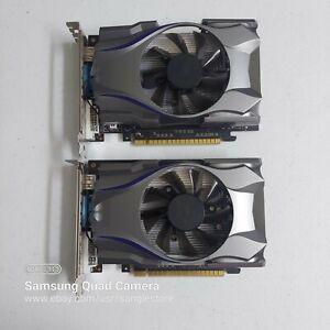 lot of 2 items, AFOX NVIDIA GeForce GT730 4GB DDR5 128-BIT DVI/VGA/HDMI PCI-E