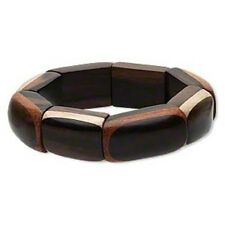 Bayong wood and Inlaid Taiwanese wood Stretch Bracelet