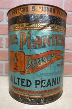 Old 'The PLANTERS PENNANT Brand Salted Peanuts' Large 10 lb Advertising Tin