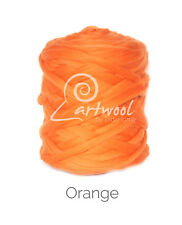 Orange  -  1 kg 100% Merino Wool Giant Chunky Yarn Arm Knitting
