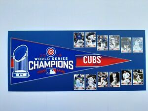Chicago Cubs 2016 World Series Pennant and Cards