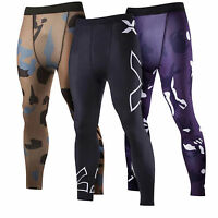 Mens Sports Apparel Under Skin Base Layer Tights Compression Workout Long Pants