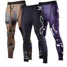 Hombre Compresión Ciclismo Leggings Ajustado Pantalones Largos Deportivo