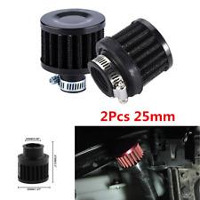 2Pcs Universal 25mm Car Cold Air Intake Filter Cone Air Filter Respirator Kit