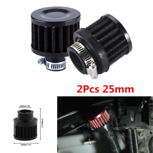 2Pcs Universal 25mm Car Cold Air Intake Filter Cone Air Filter Respirator Kit