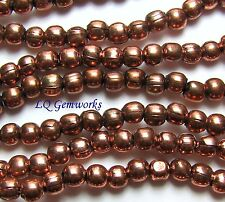 "16"" Str ANTIQUED COPPER 3mm Round Beads"