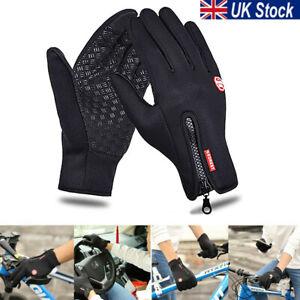 Mens Ladies Winter Windproof Waterproof Anti-slip Thermal Touch Screen Gloves
