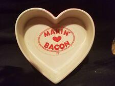 "Valentine's Day Fitz & Floyd ""Makin Bacon"" Ceramic Heart shape trinket box Japan"
