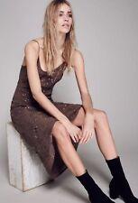 NEW $275 Jens Pirate Booty Gaudi Slip Dress Brown Size Medium
