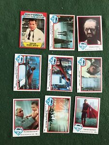 Lot of 9 Superman the Movie Trading cards Topps DC Comics lot #8