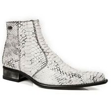 New Rock Men's White Python Arena Made in Spain M.2260 Ankle Boots US 12 D NEW