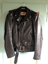 Schott Perfecto 34 Lederjacke 118 Cowhide Motorcycle Jacket Leather Black 618