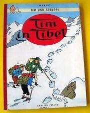 TINTIN HERGE TIM STRUPPI TIM IN TIBET CARLSEN VERLAG 1967 ALLEMAND BROCHE SC
