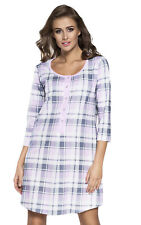 IF Nursing breastfeeding 100% cotton nightdress nightshirt nighty pyjamas 7019