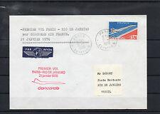 AVIATION . 1er VOL PARIS-RIO DE JANEIRO par CONCORDE. AIR FRANCE 21 JANVIER 1976