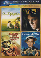Out of Africa / A Beautiful Mind / All Quiet o New DVD