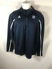 Men's ADIDAS Climalite Navy Calf-Zip Long Sleeved Sweater Sz L