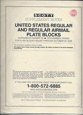 Scott National US Regular & Regular Air Mail Plate Block Supplement 2008 125S008