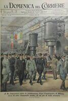 LA DOMENICA DEL CORRIERE N.16 1942 IL RE ALLA FIERA DI MILANO
