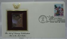 Alice & The Mad Hatter 22K Gold Stamp Proof Replica - The Art Of Disney 2005
