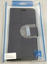 Motorola Moto G6 Play Designer Wallet Protective Case - Black - #6D