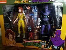 NECA  TMNT April O'Neil vs. Foot Soldier (Bashed)  Target Exclusive 2-Pack MIB