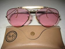 Vintage B&L Ray Ban Changeable Rose Aviator Outdoorsman 58mm NEW w/o Tags Cables