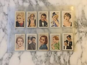 STARS OF SCREEN AND STAGE Green Back Gallaher  Cigarette Cards 1935 One Missing