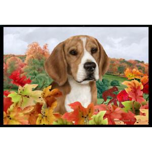 Beagle Fall Leaves Floor Mat