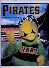 1981 Pirates Program   Unscored  vs Padres