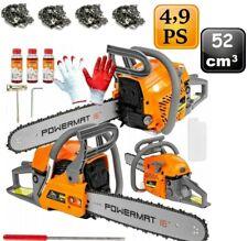Benzin Kettensäge 52cc Motorkettensäge 4,9PS Kettensägen 52 ccm Motorsäge NEU!