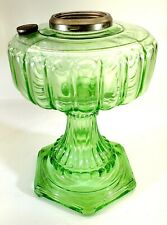 Aladdin Oil Lamp Cathedral Green Bace Only 1934 6 footed Nice Scarce N/R