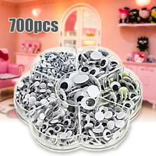 700Pcs 7 Sizes DIY Round Self-adhesive Wiggly Googly Eyes Doll Toy Scrapbooking