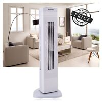 3-Speed Bladeless Oscillating Tower Fan Cooling Air Portable Floor Conditioner