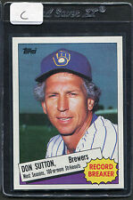 1985 Topps Don Sutton RB #10 Brewers Mint (C)