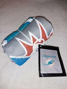 "MIAMI DOLPHINS NFL Script Sweatshirt Throw Blanket, 50"" x 60"" by Northwest Co."