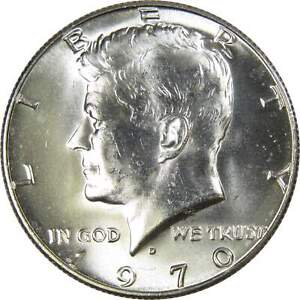 1970 D Kennedy Half Dollar BU Uncirculated Mint State 40% Silver 50c US Coin