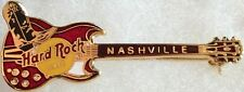 Hard Rock Cafe NASHVILLE Red Gibson SG w/Black Boot Guitar PIN HRC Logos & Clasp