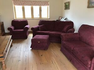 fabric sofa and chairs