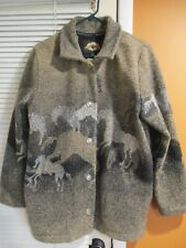 County Clothing Cheyenne Collection Equestrian M Horse Print Jacket Horse Head