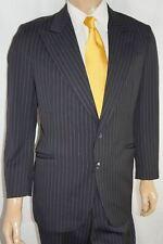 40R ARMANI COLLEZIONI Su Misura 2-Piece Suit - 40 Black Pinstripe Saks Fifth Ave